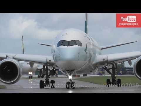 (HD) Brand New 1st Visit Cathay Pacific Airbus A350-941 B-LQA On CX216 At Manchester Ap On 06/09/19