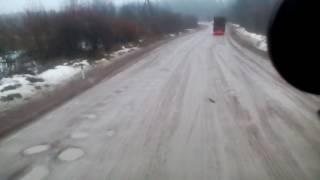 Сортавала-СПБ ,федеральная трасса убитый кусок дороги НАЛОГИ ЗАПЛАТИ и ПЛАТОН(у) кучу отвали