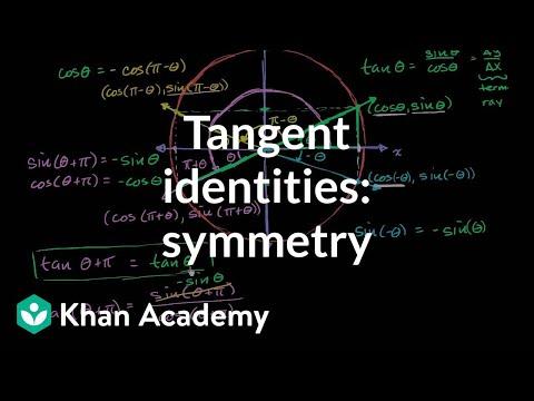 Tangent identities: symmetry (video) | Khan Academy