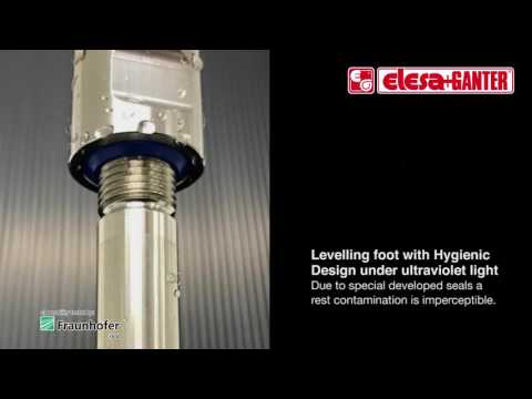 Stainless Steel-Levelling Feet With Mounting Holes, Hygienic Design