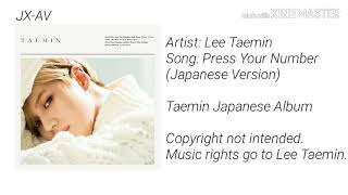 Press Your Number (Japanese Version) - Taemin [Download FLAC,MP3]