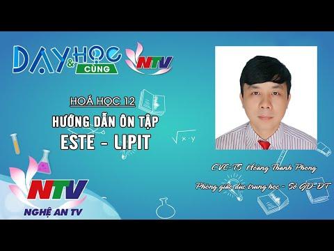 HOÁ HỌC 12: HƯỚNG DẪN ÔN TẬP ESTE - LIPIT | 17H NGÀY 18/4/2020 (NTV)