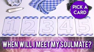 PICK A CARD // When Will I Meet My Soulmate & Who Will They Be? Love Reading!