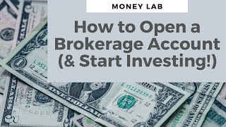 How to Open a Brokerage Account and Buy Stocks!