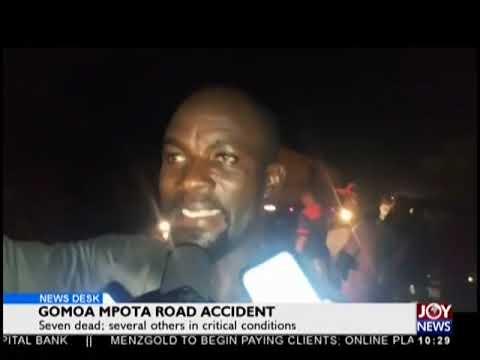 Gomoa Mpota Road Accident - News Desk on JoyNews (5-11-18)