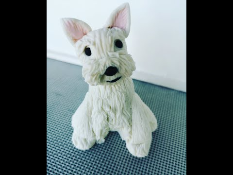 How to make Fonadnt /Gum Paste West Highland White Terrier Dog Tutorial