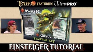 Magic the Gathering spielen lernen   Anfänger Tutorial Duell deutsch   Arena Einsteigerpaket Decks