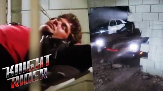 K.I.T.T. Breaks Michael Out Of Jail | Knight Rider