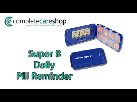 TABTIME Super 8 Daily Pill Organiser Demo