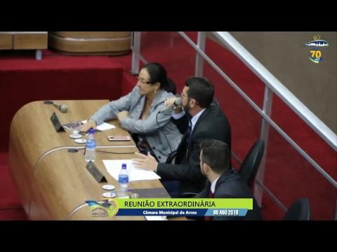 Reunião Ordinária (06/08/2018) - Câmara de Arcos