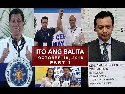 [UNTV]  UNTV: Ito Ang Balita (October 18, 2018) Part 1