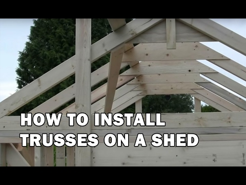 How to Build a Shed - How To Install Trusses - Video 6 of 15