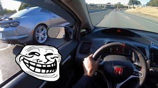 Random Camaro SS Didn't Know My Honda Was Boosted 😳