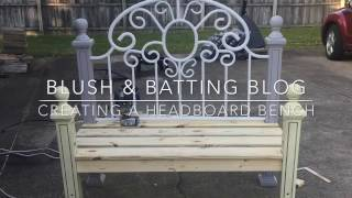 How To Create A Headboard Bench | Blush And Batting Blog