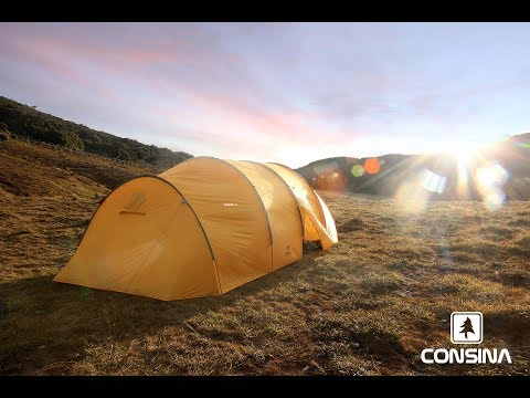 Camping with Tunnel 6 Tent at Surya Kencana