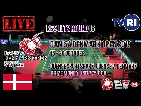 Hasil Lengkap Pertandingan Round 16 Denmark Open 2019 Badminton