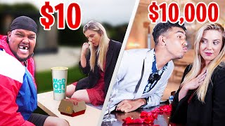£10 date vs £10,000 date challenge! Today the Beta Squad are separated into 2 teams in which one team experiences a $10 cheap first date and the other team experience a $10,000 expensive date with a beautiful girl. Who is the best at dating out of Chunkz, King Kenny Tv, Niko Omilana, Aj Shabeel & Sharky?  Subscribe to everyone!  Aj: http://www.youtube.com/ajshabeel Sharky: http://www.youtube.com/afcsharky Chunkz: http://www.youtube.com/chunkzeast  Niko: http://www.youtube.com/omilana7 Kenny: http://www.youtube.com/mrkennyoj  Follow us on Social Media to stay connected! Twitter ► https://twitter.com/BetaSquad Instagram ►  https://www.instagram.com/betasquad5 Business Inquiries: betasquad@storyofmoxie.com