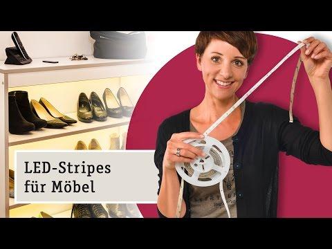 Mit LED-Streifen den Schuhschrank richtig in Szene setzen