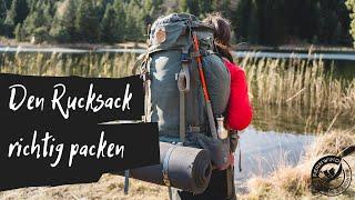 TREKKING RUCKSACK RICHTIG PACKEN: Wie packe ich meinen Rucksack optimal?