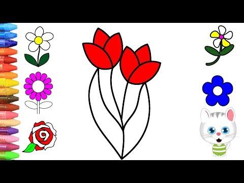 Cara Menggambar Bunga Dan Lebah Cara Menggambar Dan Mewarnai Tv