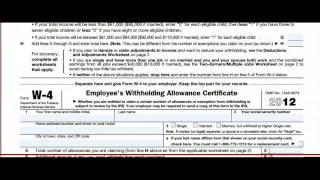 Form w-4 tutorial
