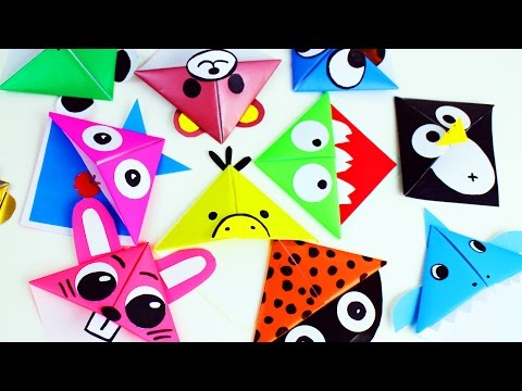 DIY | 10 Separadores de origami facilisimos - Manualidades de papel