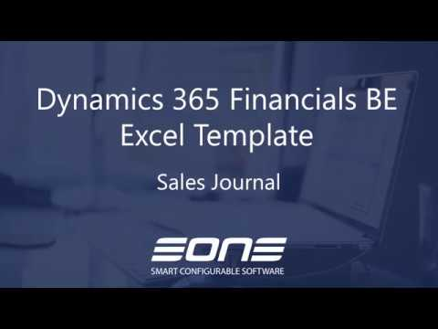 D365 Business Central Excel Template Sales Journal EOne Solutions