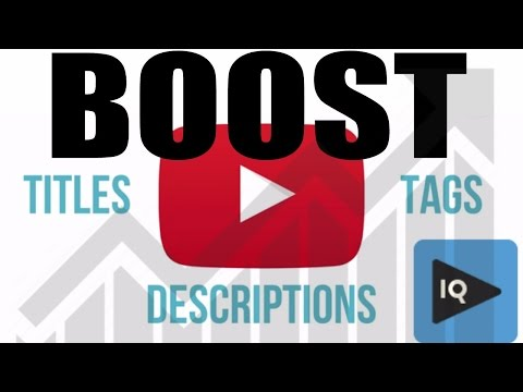 How to Boost Videos On Upload with vidIQ for More Views