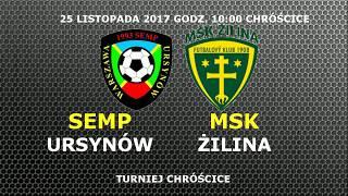 Semp Ursynów 2006 - MSK Zilina 25 listopada 2017