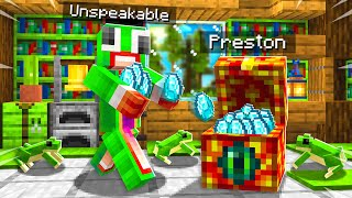 7 Ways to Steal UNSPEAKABLE's Diamonds! - Minecraft