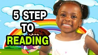 Quick and easy steps to teach reading | 5 steps to read | Teaching a child to read phonetically