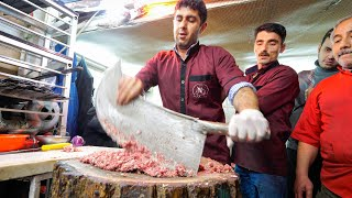 Meet the KEBAB KINGS of IRAN!! 🇮🇷SWORD CHOPPED Meat-Madness in Bonab! 🥩