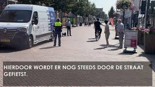 Onduidelijkheid over fietsverbod: Op welke tijden kunnen inwoners door Stationsstraat fietsen?