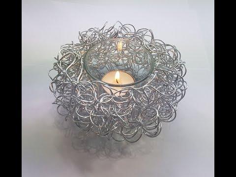 Teelichthalter aus Aluminiumdraht