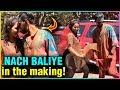 Hina Khan & BF Rocky Jaiswal PRACTISE For Nach Bal