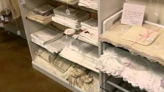 Antique linens tablecloths, handkerchiefs, bed linens, textiles, shams, and more.