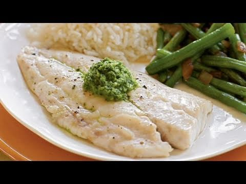 Snapper with Basil-Mint Sauce Recipe