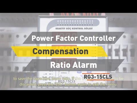 RG3-15 CLS Power Factor Controller Compensation Ratio Alarm