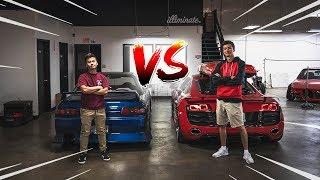 R32 Skyline VS Audi R8!