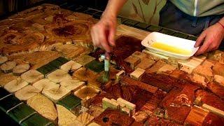 Panel made of wood oak. Панно из дерева дуб.