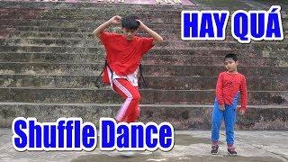 Bé DƯƠNG học nhảy Shuffle Dance❤Kênh Em Bé