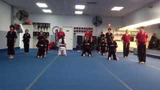 preview picture of video 'Demo Team Performance at Belt Graduation Amerikick Medford NJ'