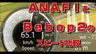 【ドローン】ANAFIとBebop2のスピード比較