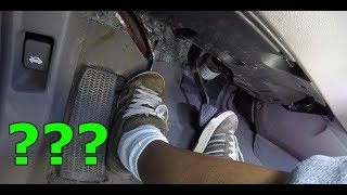 How hard is it to press a clutch pedal?