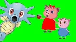 свинка пеппа ловит покемонов