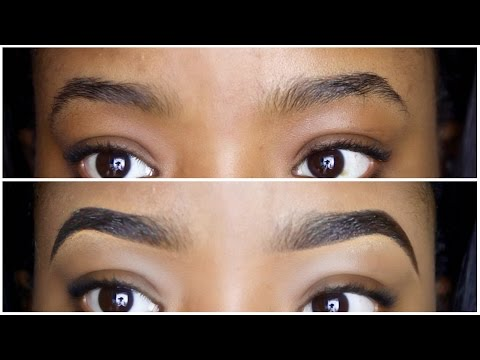 EASY EYEBROW TUTORIAL || HOW TO DRAW & FILL IN YOUR EYEBROWS