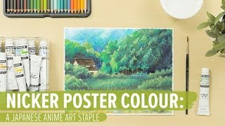 Nicker Poster Colour: A Japanese Anime Art Staple