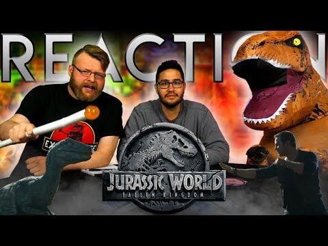 Jurassic World: Fallen Kingdom - Official Trailer REACTION!!