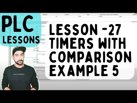 Lesson 27 - PLC Timer with Comparison Example 5 (Hindi)
