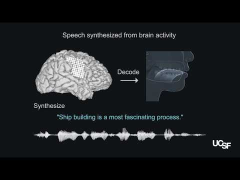 Synthetic speech generated from brain recordings